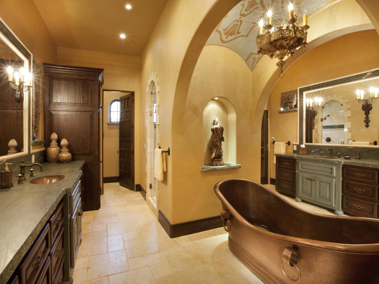 Spa Bathroom Design Old World Elegance
