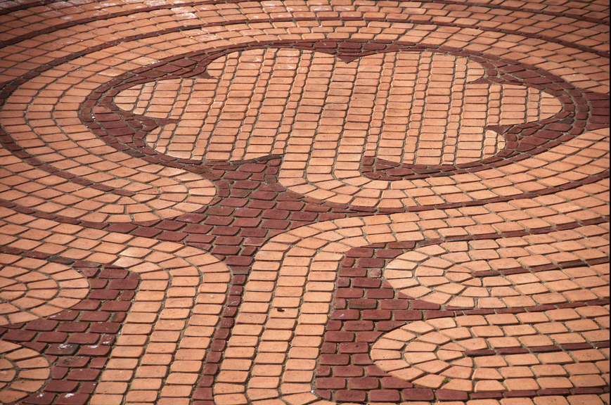 standard brick patio patterns