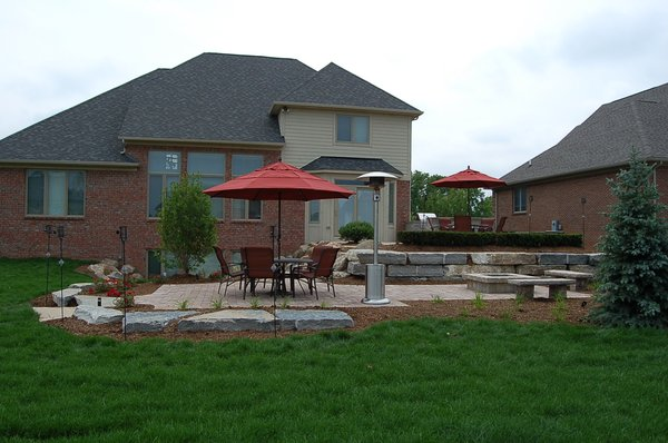 stone fire pit and grill  photo - 3