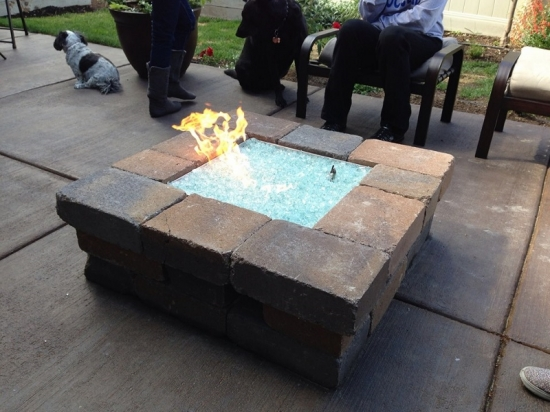Fire Glass Pit Home Depot Picture pixelmaricom