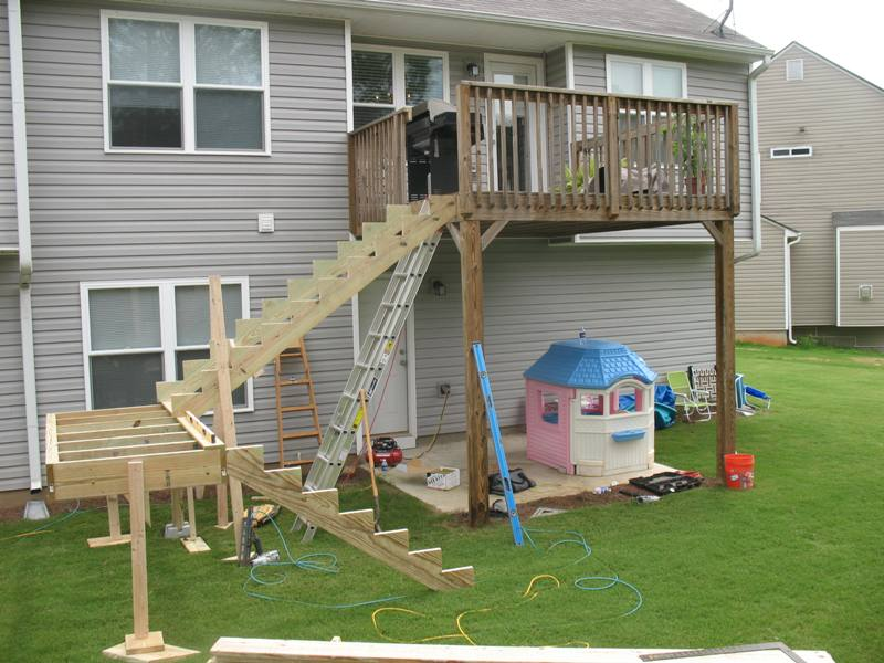 the best wood for building deck stairs design and ideas