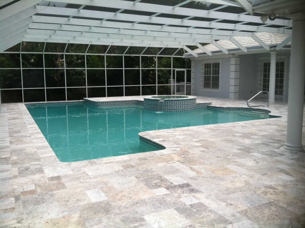 Travertine As Pool Deck 187 Design And Ideas
