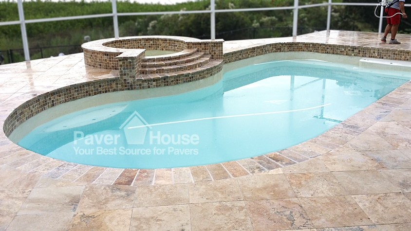 Travertine Pool Deck Colors  photo - 2