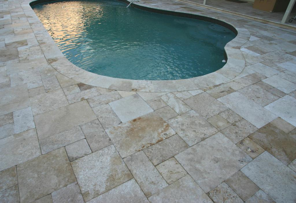 travertine pool deck reviews