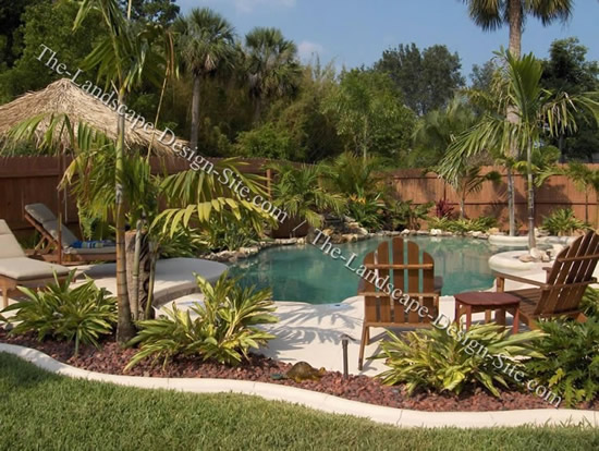tropical landscaping ideas around pool  photo - 2
