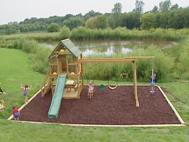 Backyard Playground Landscaping Ideas