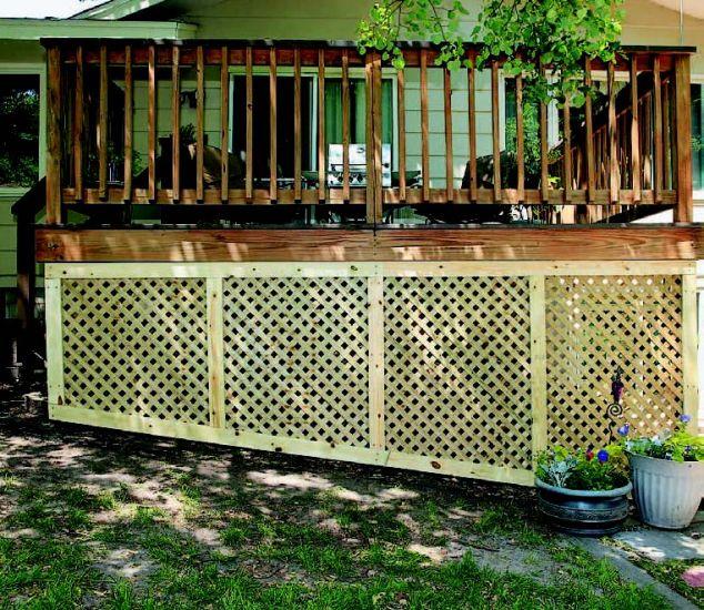 Installing Deck Lattice On A Slope Photo 3