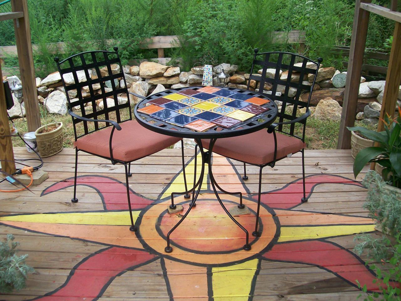 Patio Deck Painting Ideas Photo 2